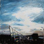 Glass Wall - 120x120cm - Oil/Enamel/Board