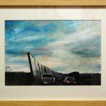 Glass Wall (Study) - 30x40 (inc frame) - Oil/Canvas