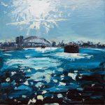 Up Sydney - 91x91cm - Oil/Enamel/Board