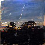 Going Nowhere (Beautiful Fucked Up Evening) - 120x120cm - Oil/Enamel/Charcoal/Board Finalist 2011 Stan and Maureen Duke Gold Coast Art Prize