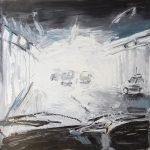 Exit Light - 120x120cm - Oil/Enamel/Board