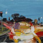 Exit - 31x46cm - Oil/Enamel/Canvas
